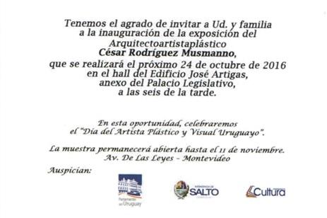 Exposicion Arq.Cesar Rodriguez Musmano